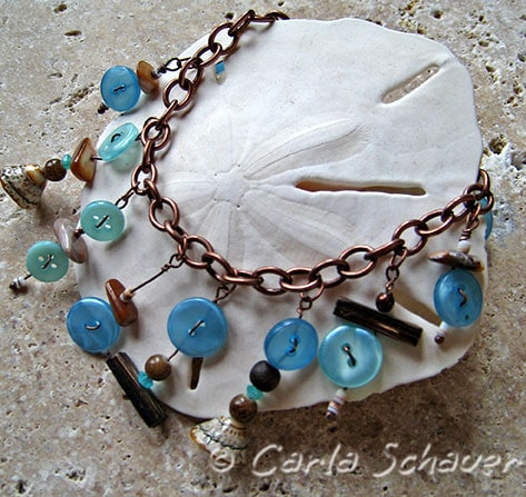 Beachy Button Bracelet from Carla Schauer Designs