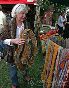 Handmade scarf booth-photo by Carla Schauer