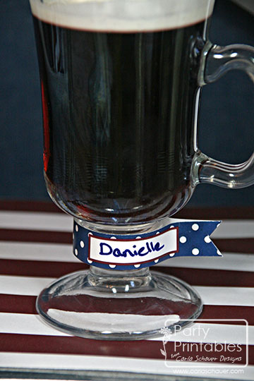 July 4th Party Printable Drink Flags