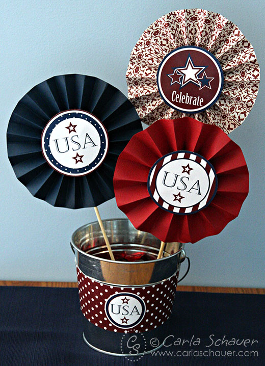 July 4th printable party decorations paper medallion