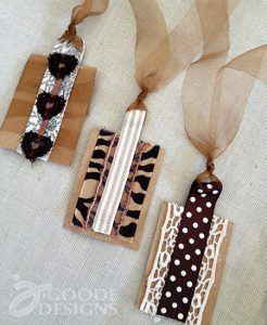 Upcycled Paper and Ribbon Tags-Tag Tuesday