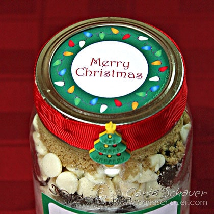 Free Printable Christmas canning jar label from Carla Schauer Designs