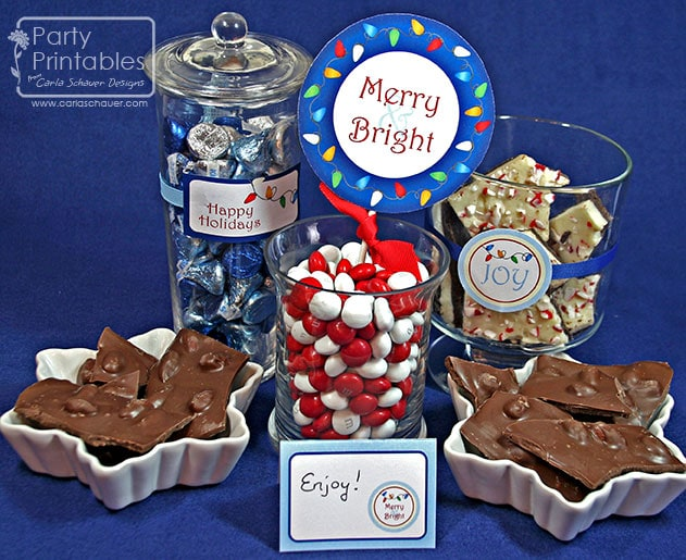 Holiday Lights Printable Party Candy Buffet from Carla Schauer Designs
