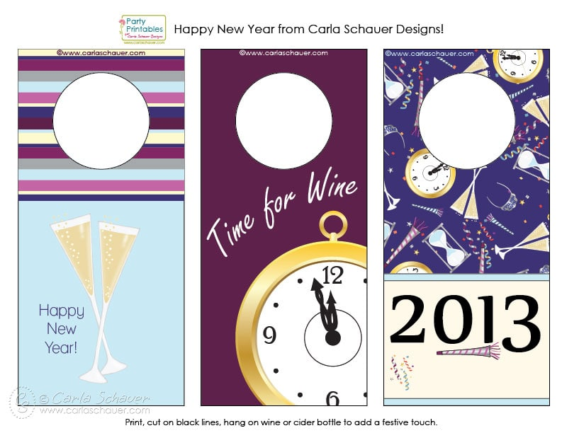 new year 39 s eve wine bottle tags free printables carla schauer designs