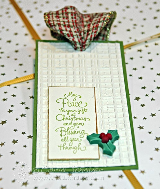 Embossed Christmas gift tag from Carla Schauer Designs