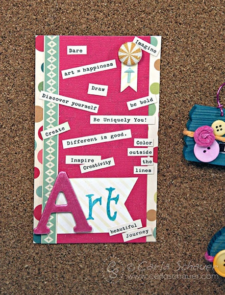 Words of Art Inspiration Card by Carla Schauer Designs