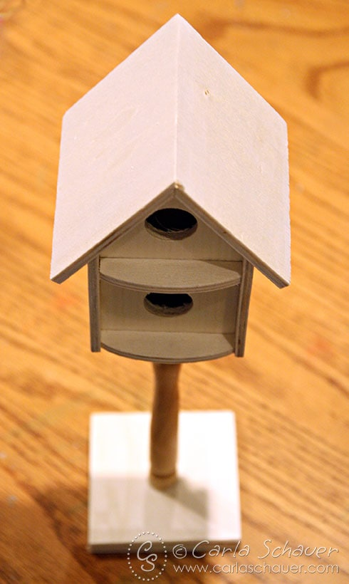 Unpainted Spring Birdhouse from Carla Schauer Designs