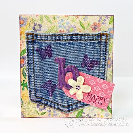 Denim Pocket Gift Card Holder by Carla Schauer Designs