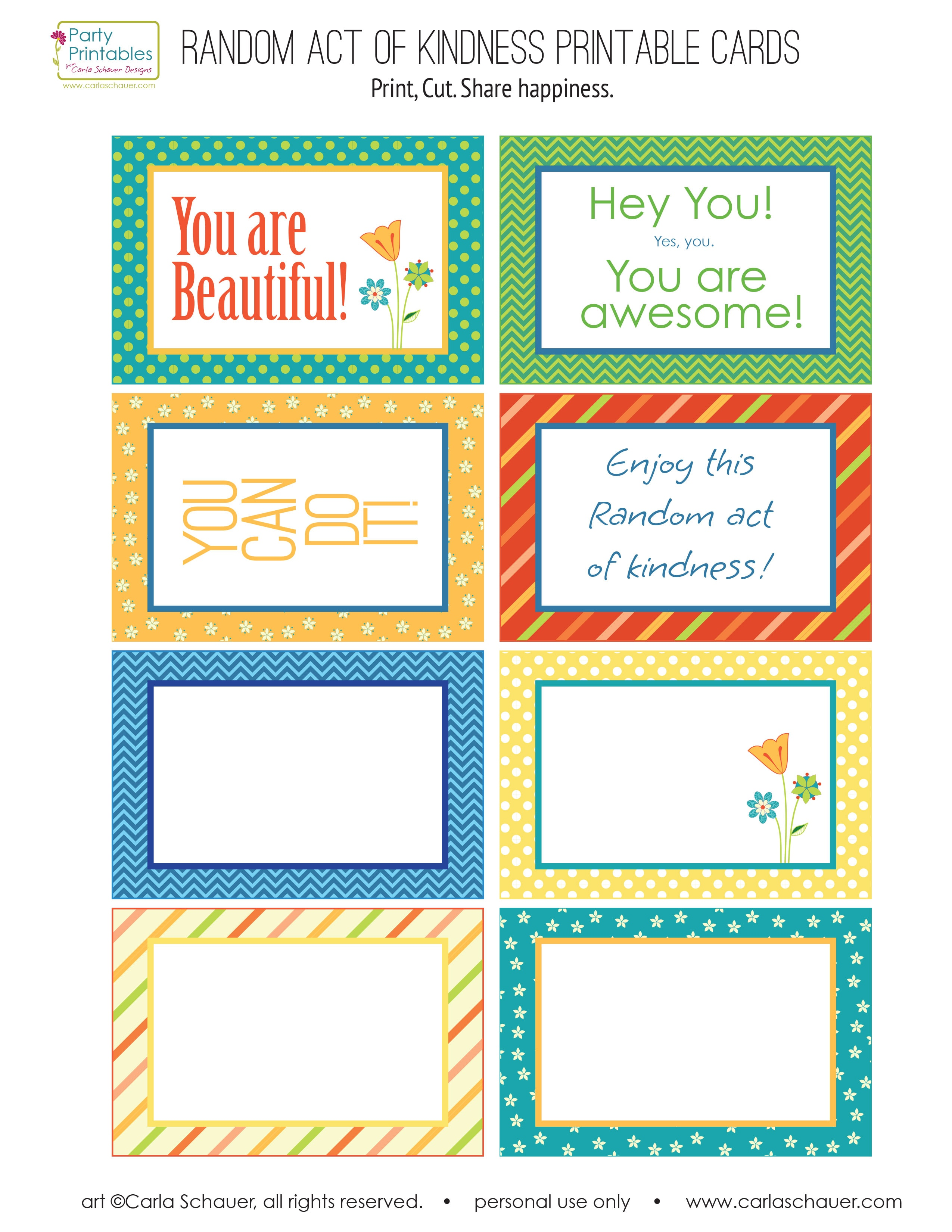 This is a graphic of Exceptional Random Acts of Kindness Cards Printable