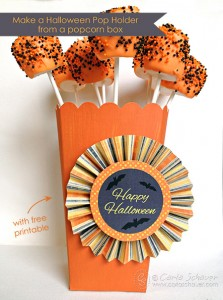 Halloween pop display box with free printable from Carla Schauer Designs