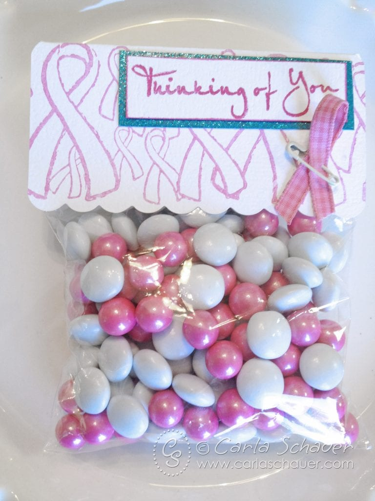 Pink Ribbon Treat Topper from Carla Schauer Designs