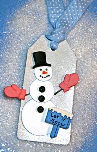 Winter Snowman Holiday Gift Tag