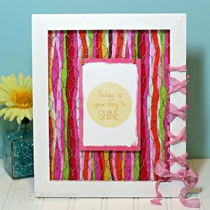 Scrap Fabric Picture Frame
