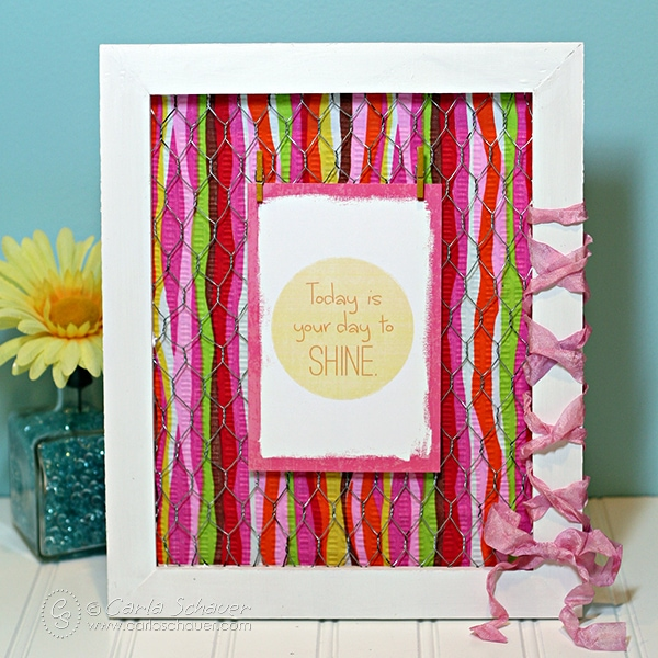 Make a scrap fabric picture frame with printable inspiration. Tutorial from Carla Schauer Designs