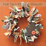 Tied Ribbon Wreath for Fall