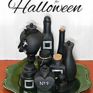 Make DIY potion bottles for Halloween in under 15 minutes using product packaging and inexpensive funky dollar-store finds. Get the easy tutorial from carlaschauer.com