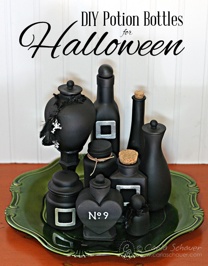 DIY Halloween Potion Bottle tutorial from carlaschauer.com