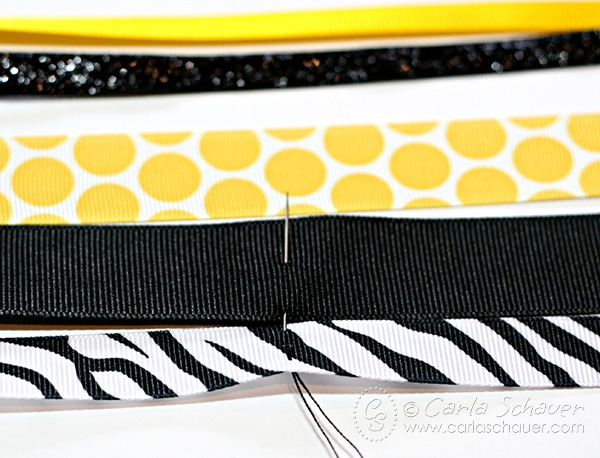 How to make ribbon hair bows for fastpitch softball and other sports. Easy to follow tutorial from Carla Schauer Designs at carlaschauer.com