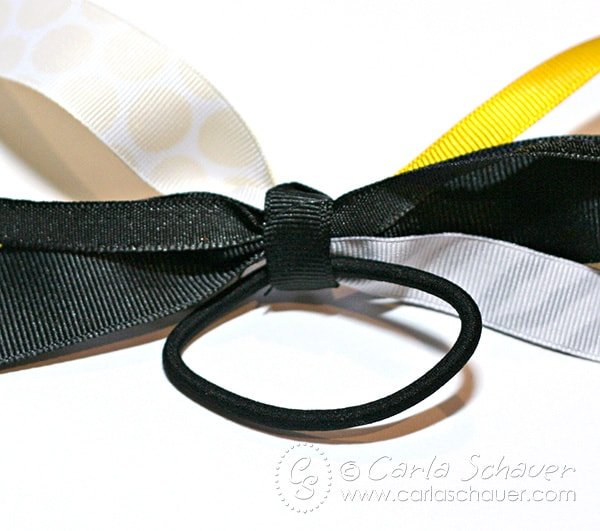 How to make athletic hair bows for fastpitch softball (or other sports). Easy to follow tutorial from Carla Schauer Designs at carlaschauer.com
