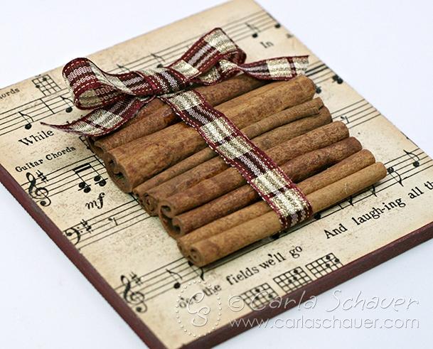 Cinnamon stick ornament tutorial from Carla Schauer Designs.