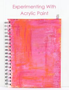 Layered Acrylic Paint Background. Experimenting with Art Blog Series from Carla Schauer Designs.