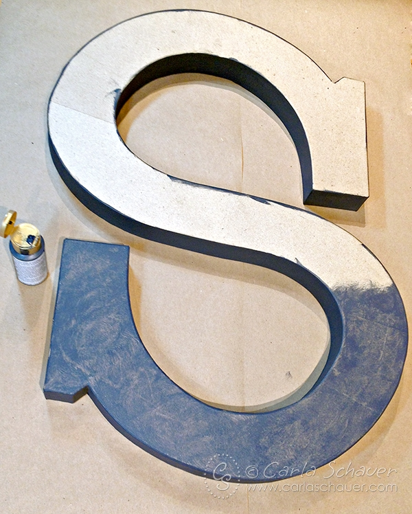 Make a faux metal monogram letter with the tutorial from Carla Schauer Designs.