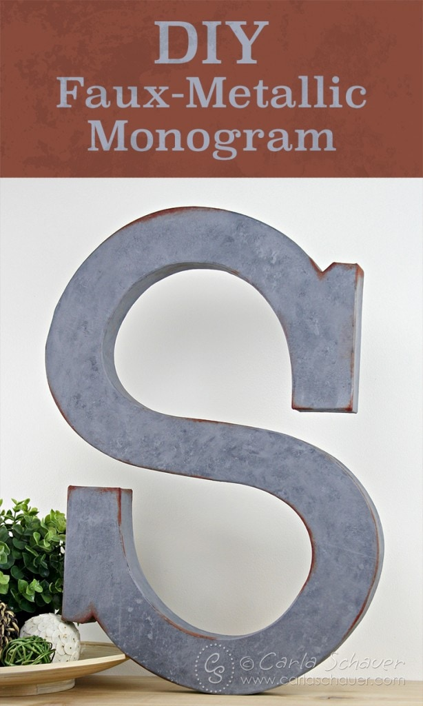 Make a faux-metallic monogram letter with paint, using this tutorial from Carla Schauer Designs