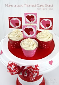 Make a love-themed cake stand using this tutorial from Carla Schauer Designs.