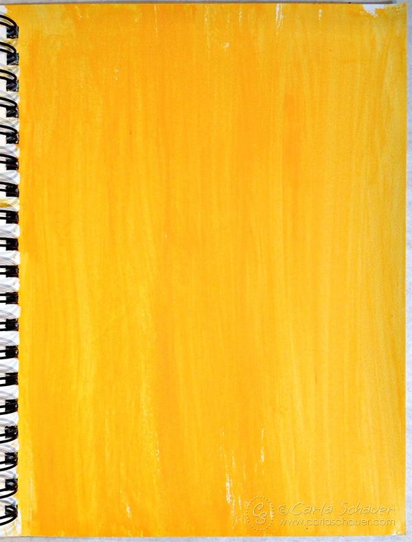 Orange Acrylic Paint Background|Carla Schauer Designs art experiment blog series.