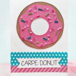 Donut-themed Thank YouCard