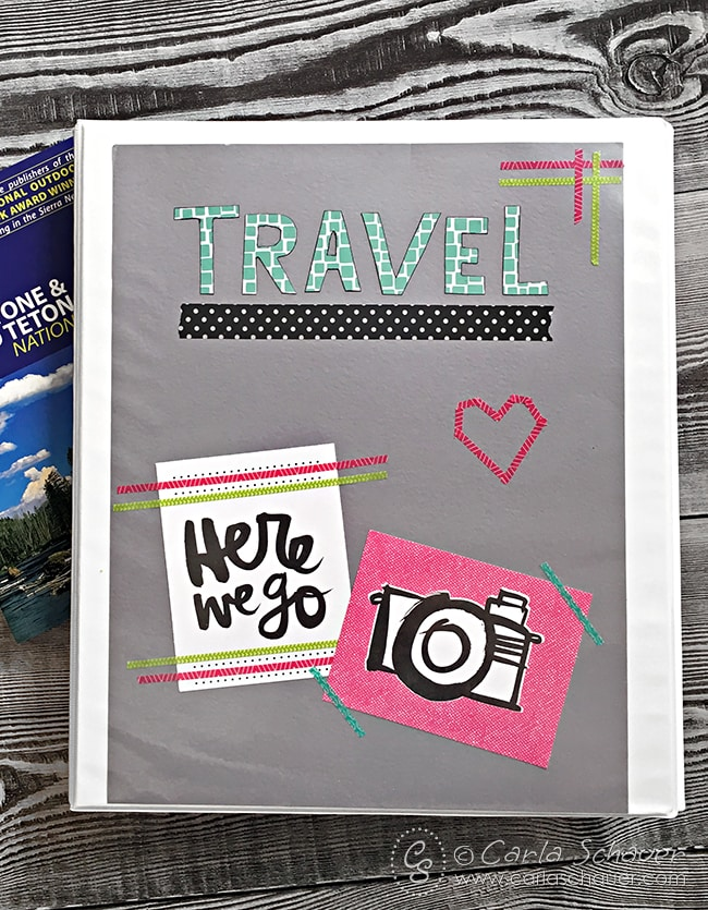 How to make a Tween Travel Binder |Carla Schauer Designs. With links to free tween travel game printables