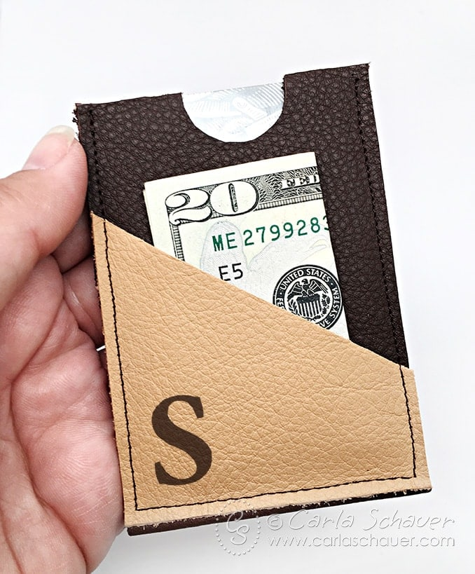 Leather slim wallet tutorial from Carla Schauer Designs. Make in 15 minutes? Wow!
